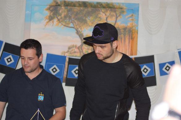 Pierre -Michel Lasogga rechts und Silvio Fischer