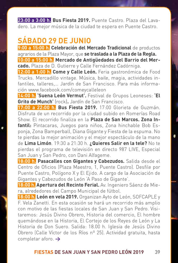 Fiestas de San Juan y San Pedro en LEON
