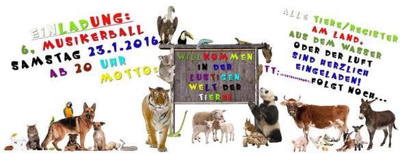 Einladung zum 6. Musikerball - 23.1.2016 - für alle Musiker/innen vom MVO
