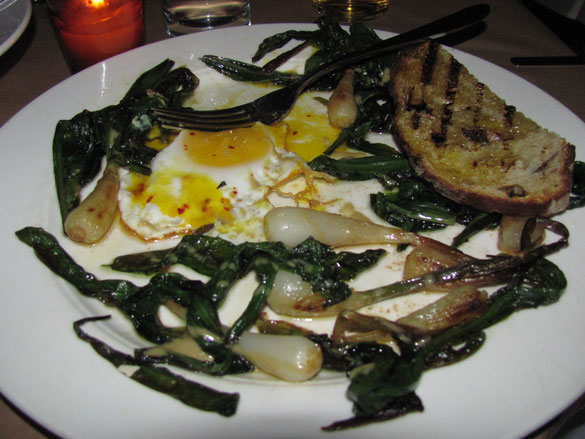 Ramps...creatively served at The Spotted Pig, NYC.