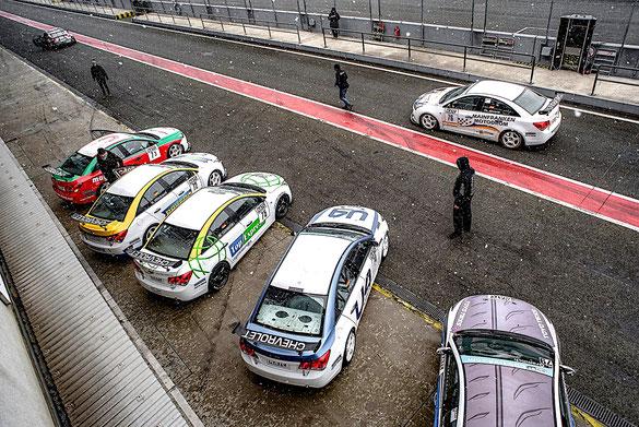 Rennfahrer aus Bad Salzuflen Dennis Bröker Chevrolet Cruze Eurocup 2019 Toyo Tires Oschersleben Pfister-Racing Tourenwagen Schnee