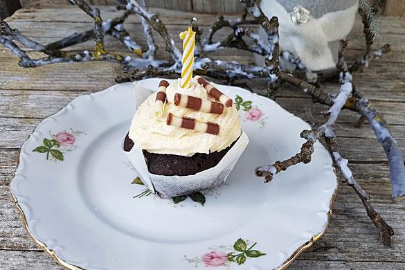 Kakao Cupcakes mit Sauerrahm