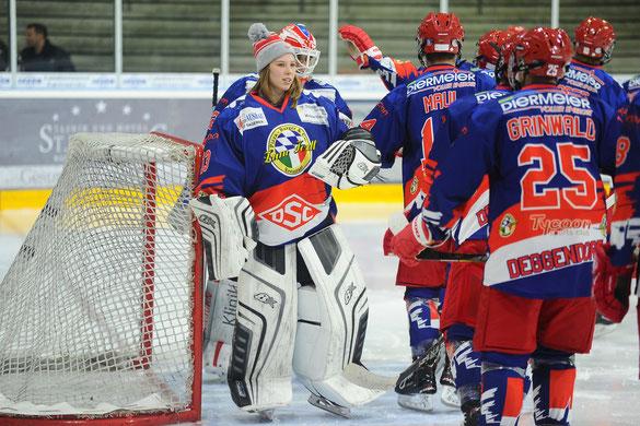 Stefanie Neuert mit ihrem U20 Team