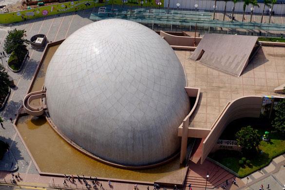 Blick aus dem Peninsula Hotel auf der Cultural Arts Centre, Hongkong