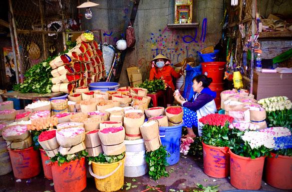 Blumenmarkt in Saigon