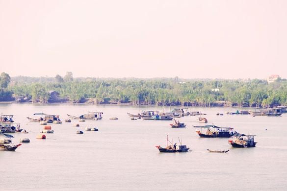 Mekong, Boote, Vietnam