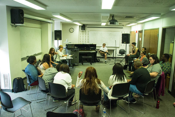 April Tini Directs Vocal Workshop with assistance from Susan Tobocman