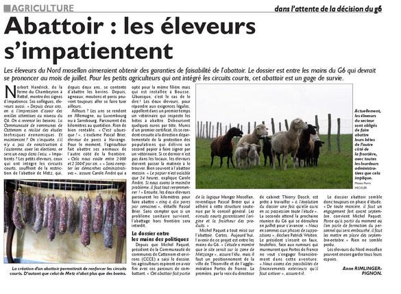 Edition du Républicain Lorrain, 25/06/13