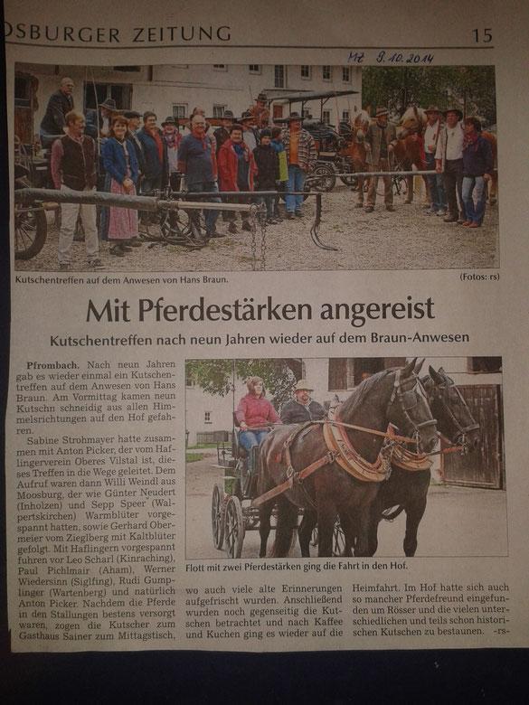 Moosburger Zeitung 09.10.2014