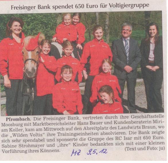 Moosburger Zeitung 09.05.2012