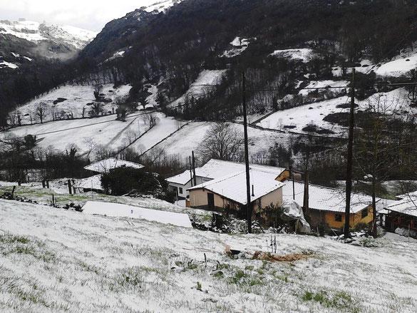 Las Casas d´abaxu en invierno
