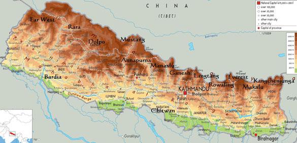 Die Trekking Gebiete Nepals