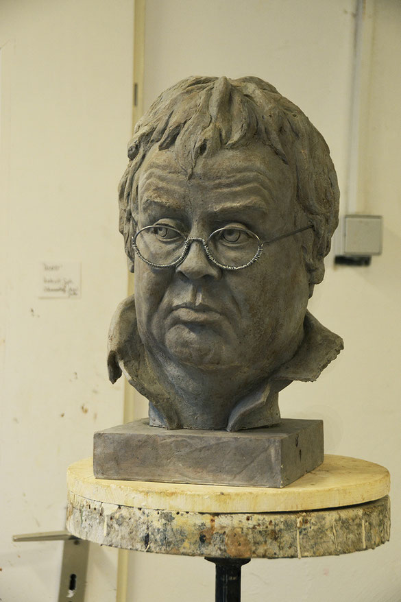 'Horst' // Bildhauerei: Deike Heeren // Gießmasse, Gips, Acryl, H 40 cm
