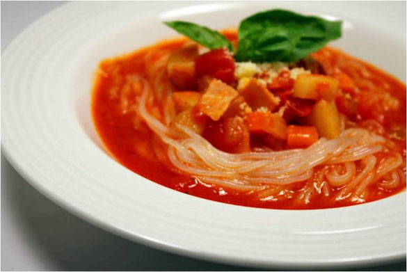 純麺家イタリアン・スープミネストローネ麺 recipe by 幾田淳子