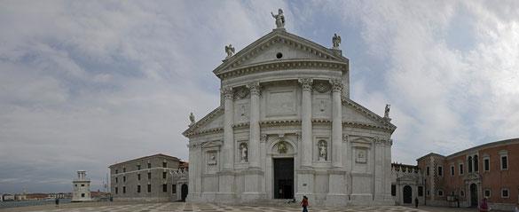 Freihand Panorama, Chiesa di S. Giorgio Maggiore e Chiosri, Venedig, Venezien