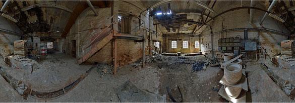 Vorraum zum Dachboden einer Keramikfabrik