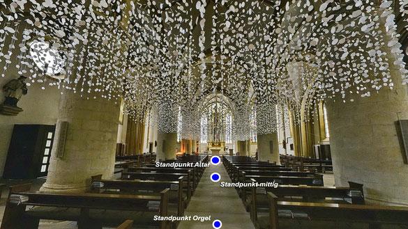Danuta Karsten, Überschreibungen, Propsteikirche St. Peter in Recklinghausen, Standpunkt beim Taufbecken
