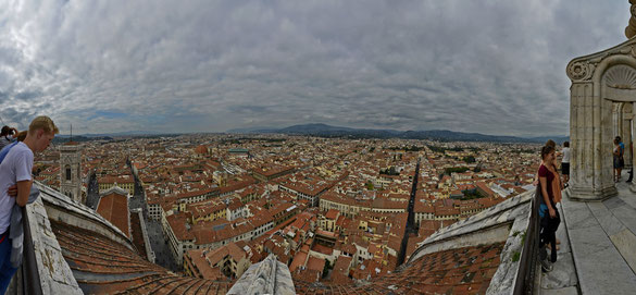 Freihand 180° Panorama, Dom Florenz