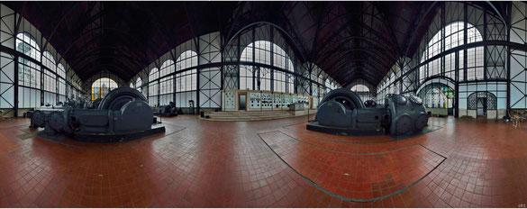 Das renovierte Maschinenhaus, Innenansicht