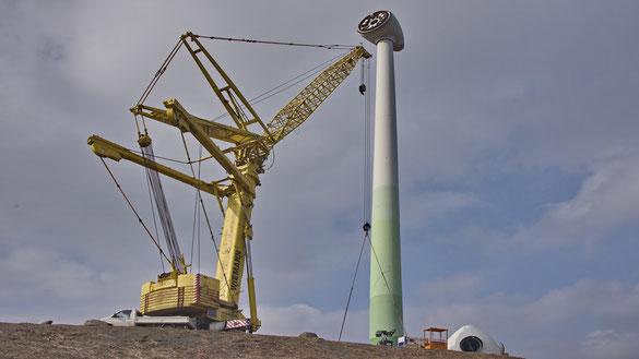 Reparatur Windrad Enercon E-66 im Jahre 2o13