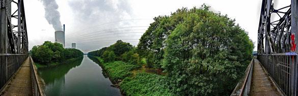 180° Panorama Rhein-Herne-Kanal, Steag Kraftwerk
