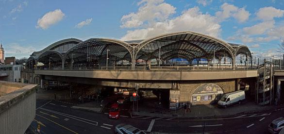Freihand 180° Panorama, Hauptbahnhof Köln