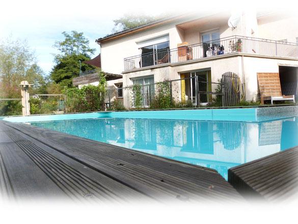 grande piscine du gite en Ariège