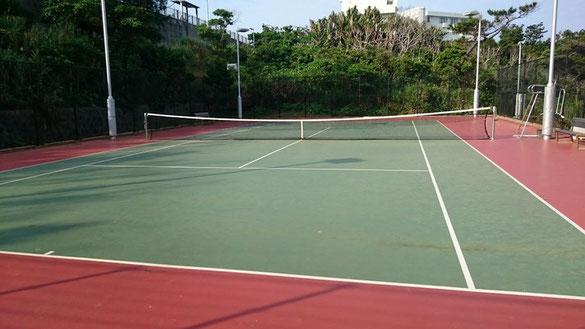 OIST Seaside House Tennis Court Map.