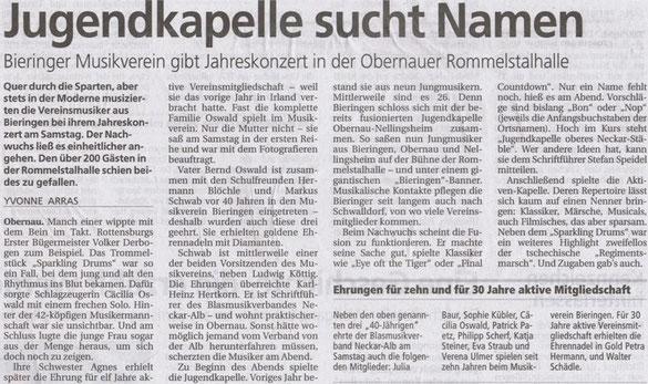 Schwäbisches Tagblatt vom 16.12.2013