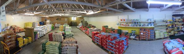 Aufnahme des Bereiches mit der Sackware im Landhandel-Bartels.de