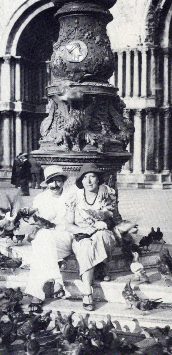 Meher Baba with Kitty in Venice. Courtesy of Lord Meher p.1506