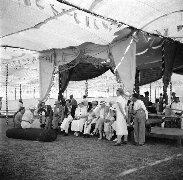 MSI Collection ;1937 - Nasik, India - Tom is seated facing on the far left