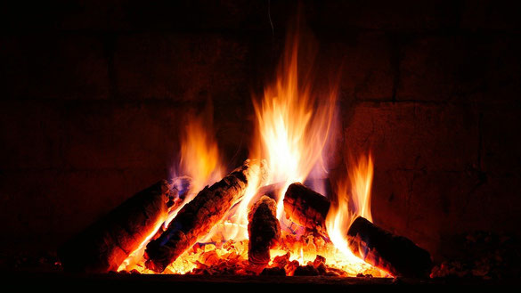 Le feu est la production de flammes, de chaleur et de lumière lors de la combustion vive d'une matière en présence d'oxygène. Il peut s'en dégager de la fumée si la combustion est incomplète.   La Bible parle à de nombreuses reprises du feu.