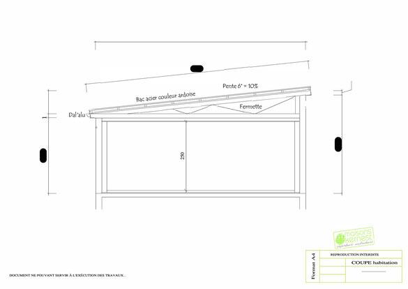 Plan maison plain pied 4 chambres coupe d'habitation