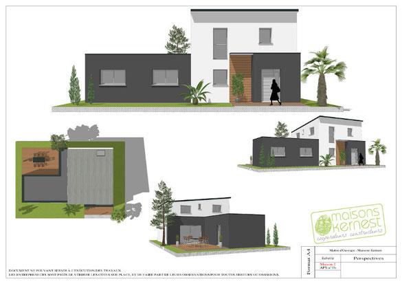 plan maison 4 chambres etage MAISONS KERNEST