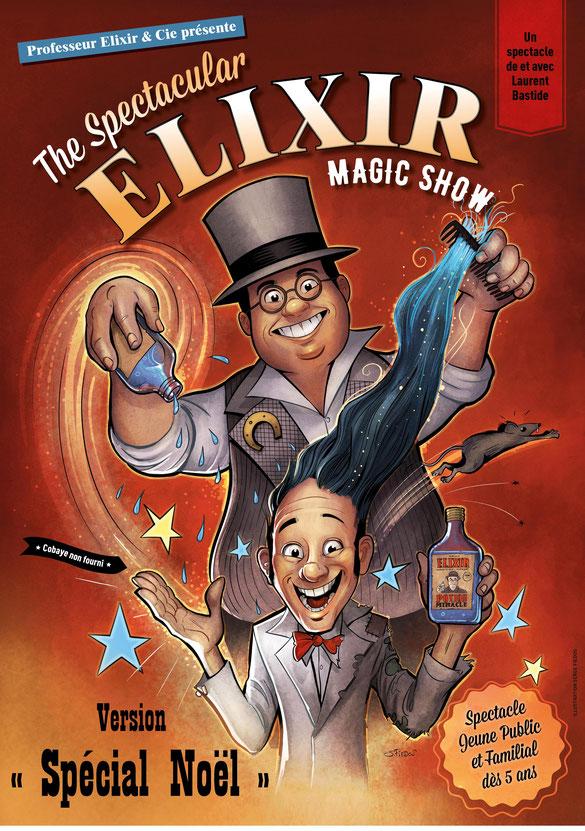 magicien toulouse - Magicien Pro Toulouse - Spectacles magie Close-up scène - professeur Elixir - Spectacle enfants noel