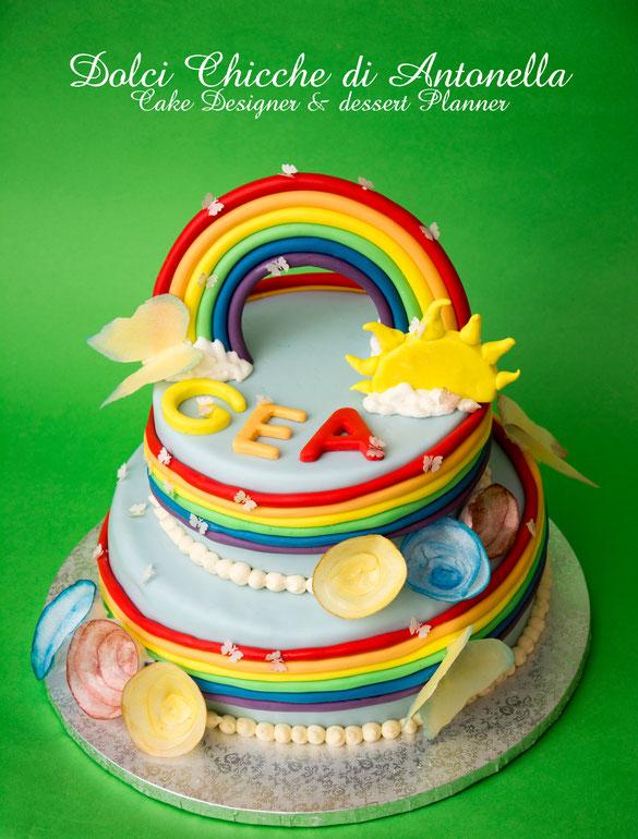 torta arcobaleno-raibow cake-dolci-la spezia-liguria-feste-eventi-bimbi