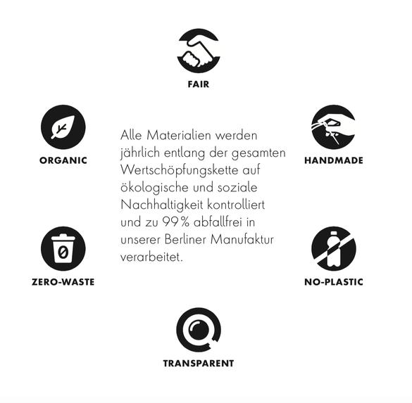 Natascha von Hirschhausen: Mode aus Berlin. Fair. Organic. Zero-waste. Handmade. Transparent. Plastikfrei.