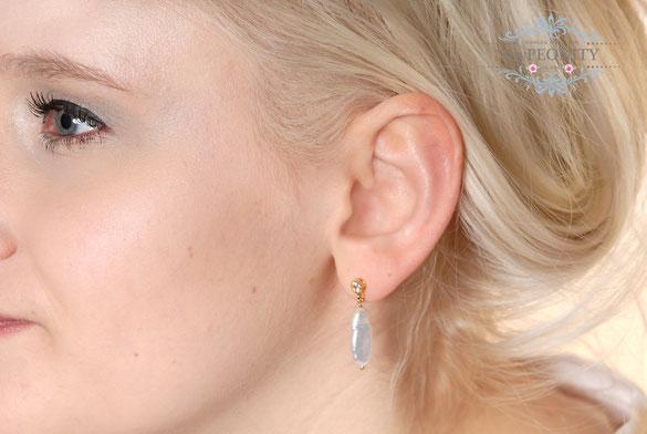 ohrringe ohrhänger creolen loops ohrstecker edelsteine perlen vergoldet silber