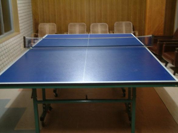 現在は結構スペースがいる卓球台