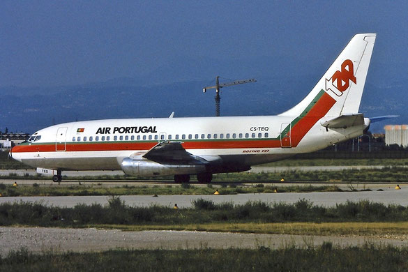 CS-TEQ B737-282C TAP Air Portugal - Transportes Aéreos Portugueses 29dec83 WFU feb98