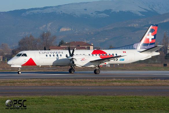 HB-IZU Saab 2000 2000-037 Darwin Airline for Etihad Regional