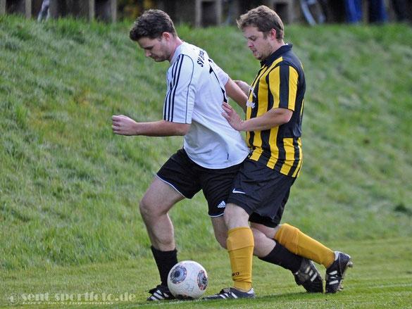 Aus der Partie FC Höherberg (gelb/schwarz) vs SV SW Bernshausen (weiß)