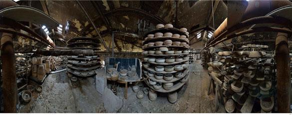 Dachboden einer Keramikfabrik