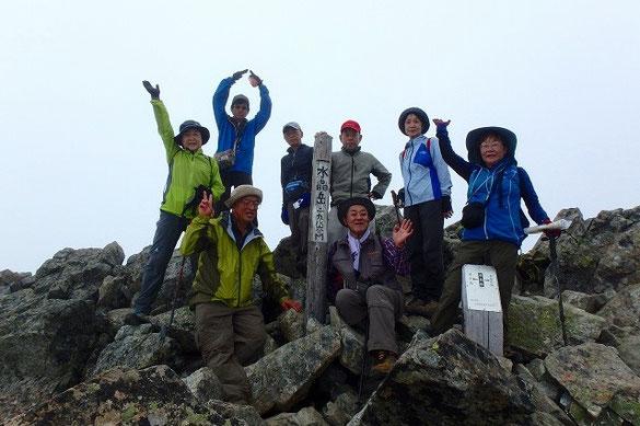 水晶岳(2986m)