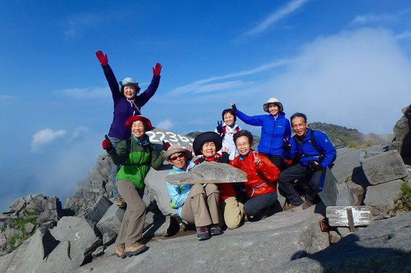 鳥海山 新山 (強風です)