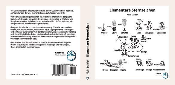 Elementare Sternzeichen, Buch von Dr. sc. nat. ETHZ, Alain Stalder, Mitglied der Astrologischen Gesellschaft Zürich