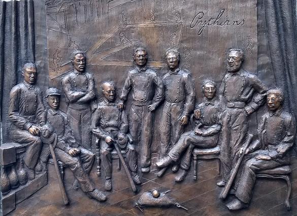 Targa commemorativa dei Pythians esposta all'Octavius Catto Memorial in Philadelphia