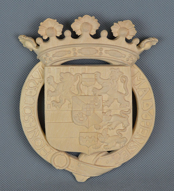 Beispiel einer Rekonstruktion des oranischen Wappen vom Hohenzollernmodell