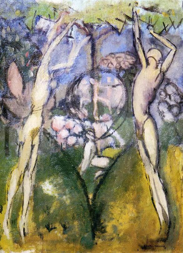 マルセル・デュシャン「春の青年と少女」(1911年)